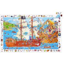 Megfigyeltető puzzle - Kalózok, 100 db-os - Pirates- DJECO