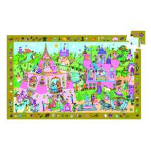 Megfigyeltető puzzle - Hercegnő, 54 db-os - Princess- DJECO