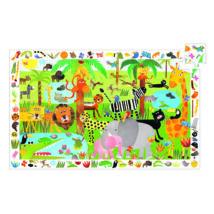 Megfigyeltető puzzle - Dzsungel, 35 db-os - Jungle- DJECO
