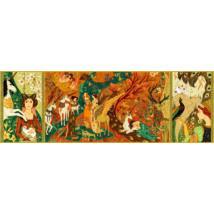 Művész puzzle - Egyszarvú és a hölgy, 500 db-os - Unicorn lady- DJECO