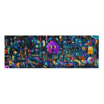 Művész puzzle - Szörnyszőnyeg, 500 db-os - Monster Wall- DJECO
