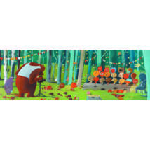 Művész puzzle - Erdei barátok, 100 db-os - Forest friends- DJECO