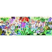 Művész puzzle - Szivárványos tigrisek, 1000 db-os - Rainbow Tigers- DJECO