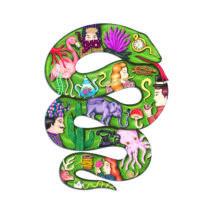 Művész puzzle - Boa, 350 db-os- DJECO