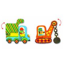 Párositó puzzle - Munkagépek - Articulo vehicles- DJECO