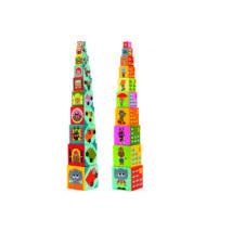 Toronyépítő kocka - Autók - 10 vehicles blocks- DJECO