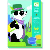 Homokkép készítő - Pandamackó és barátai - Panda and friends- DJECO