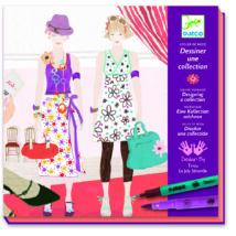Divattervező műhely - Ruhatervező rajzkészlet - Drawing a fashion show- DJECO