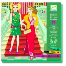 Divattervező műhely - Estélyi ruhák - Drawing evening dresses- DJECO