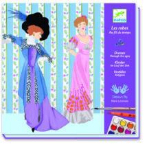 Művészeti műhely - Festés, Korok divatja - Dresses through the Ages- DJECO