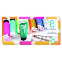 Csillámgél 8 színben - 8 tubes of glitter gel- DJECO
