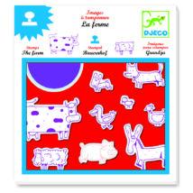 Nyomdakészlet - Háziállatok - Farm- DJECO