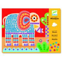 Mozaikkép készítés - Elefánt és csiga - Elephant and snail- DJECO