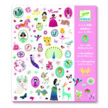 Matricák - 1001 matrica  - 1000 stickers for girls- DJECO