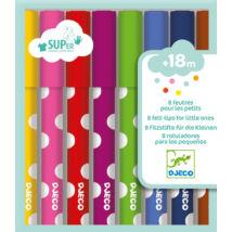Kimosható filctoll - 8 felt-tips for little ones- DJECO