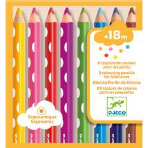Színes veruza készlet kicsiknek - 8 colouring pencils for little ones- DJECO