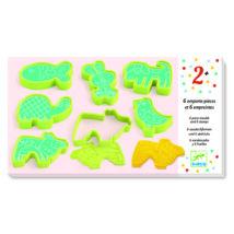 Gyurmaformázó készlet - 6 press moulds and 6 stamps pet animals- DJECO