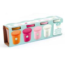 Gyurma - Pillegyurma - 4 tubs of play dough, Sweet- DJECO