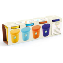 Gyurma - Pillegyurma - 4 tubs of play dough, Plain flour- DJECO