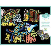 Bársony színező - Csinos halak - Pretty fishes- DJECO