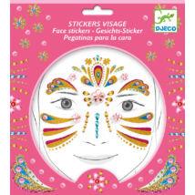 Arc dekoráló matrica - Arany hercegnő - Gold princess- DJECO