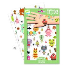 Tetováló matricák - Szörnyecskék - Monsters- DJECO