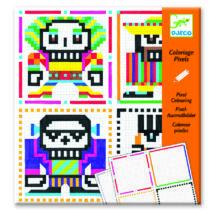 Pixel színező - Nagy koponyák - Skull boys- DJECO