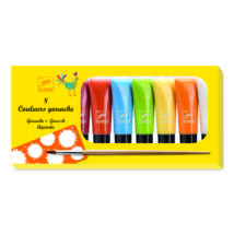 Gouasche festék - 8 tubus - klasszíkus színek - 8 tubes of gouache - Classic colours- DJECO