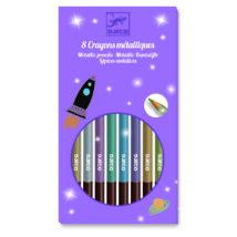Színes ceruza készlet - 8 szín, metál - 8 metallic pencils- DJECO