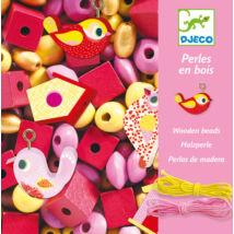 Fa gyöngyök madárkákkal - Wooden beads, bird- DJECO