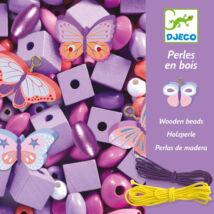 Fa gyöngyök pillangókkal - Wooden beads, buterflies- DJECO