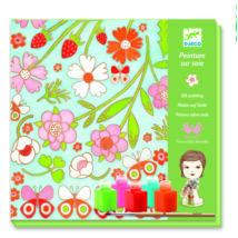Selyemsál festő készlet - Pillangók - Butterflies- DJECO