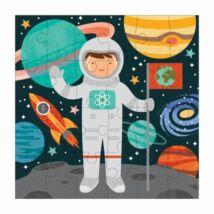 Petit Collage 24 darabos mini puzzle – űrhajós