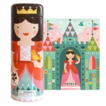 Petit Collage 64 darabos puzzle és persely fémdobozban – királylány