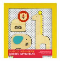 Petit Collage 100% organikus fejlesztő játék, fából készült hangszer szett