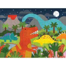 Petit Collage 100% organikus nagy méretű padló puzzle, dínó