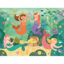 Petit Collage 100% organikus nagy méretű padló puzzle, hableány