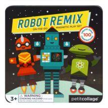 Petit Collage 100% organikus mágneses játékkészlet – variálható robotok