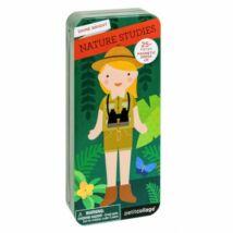 Petit Collage 100% organikus mágneses öltöztetős játékkészlet – természetben