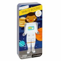 Petit Collage 100% organikus mágneses öltöztetős játékkészlet – űrben
