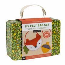 Petit Collage 100% organikus játék, filctáska és érmekészítő szett bőröndben