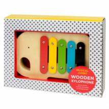 Petit Collage 100% organikus fejlesztő fa zenés játék, xilofon, elefánt