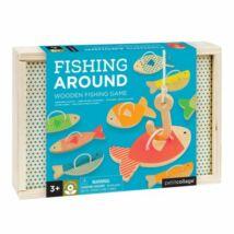 Petit Collage 100% organikus fejlesztő fa játék, horgászás