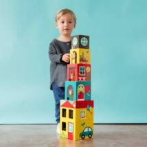 Petit Collage 100% organikus fejlesztő építőjáték, Peek-a-boo