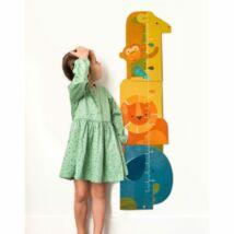 Petit Collage 100% organikus magasságmérő, safari
