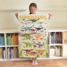 Kreatív, fejlesztő óriásplakát, 32 matricával - Dinoszaurusz - Poppik