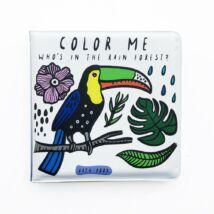 Wee Gallery színváltós fürdős könyv - Kik laknak az esőerdőben?
