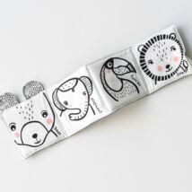 Wee Gallery organikus textil babakönyv - Barátságos arcok a vadonban