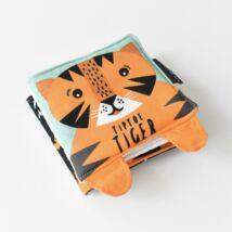 Wee Gallery organikus textil babakönyv - Kiváncsi Tigris