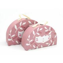 Yuunaa-Marinski bőrönd szett  - Rózsaszín
